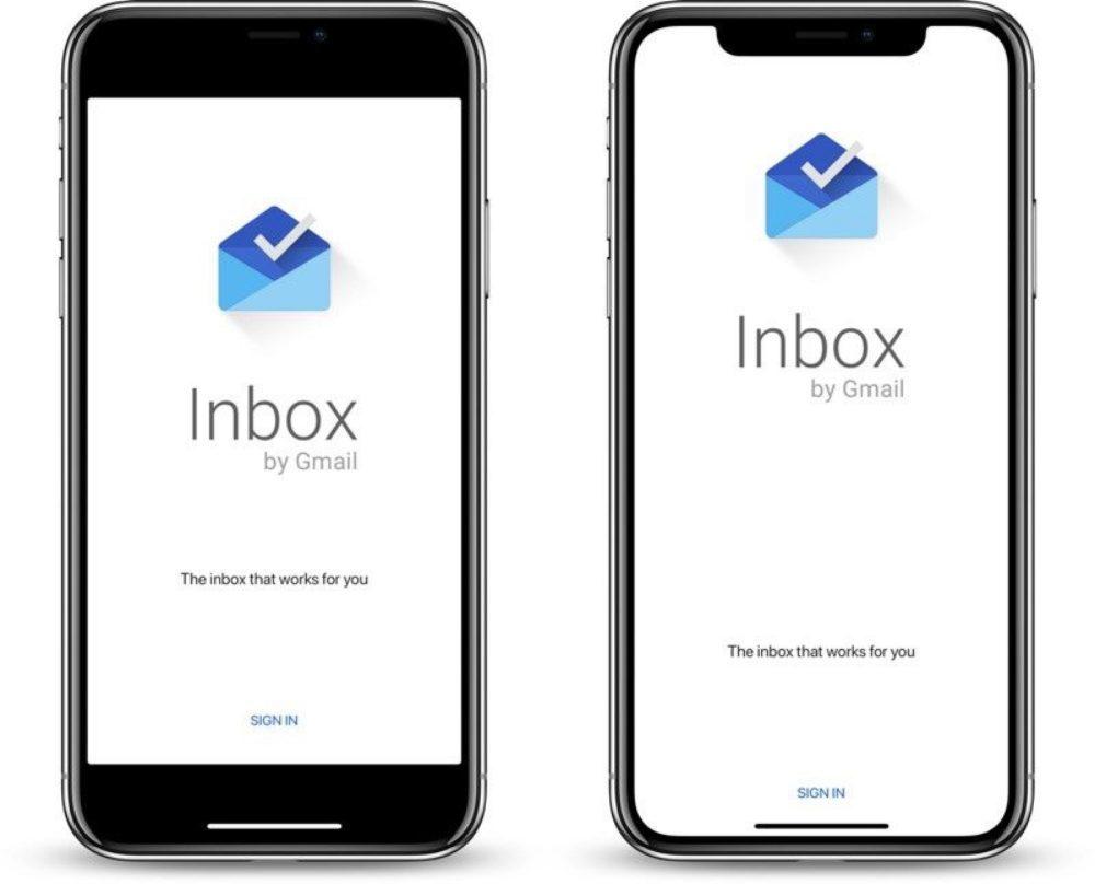 Inbox Gmail iPhone X Mise a jour 1000x808 Lapplication Inbox de Google supporte maintenant liPhone X
