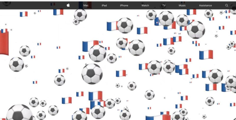 Page Apple France Coupe du Monde 1000x511 Apple célèbre la finale de la Coupe du monde en mettant à jour son site français
