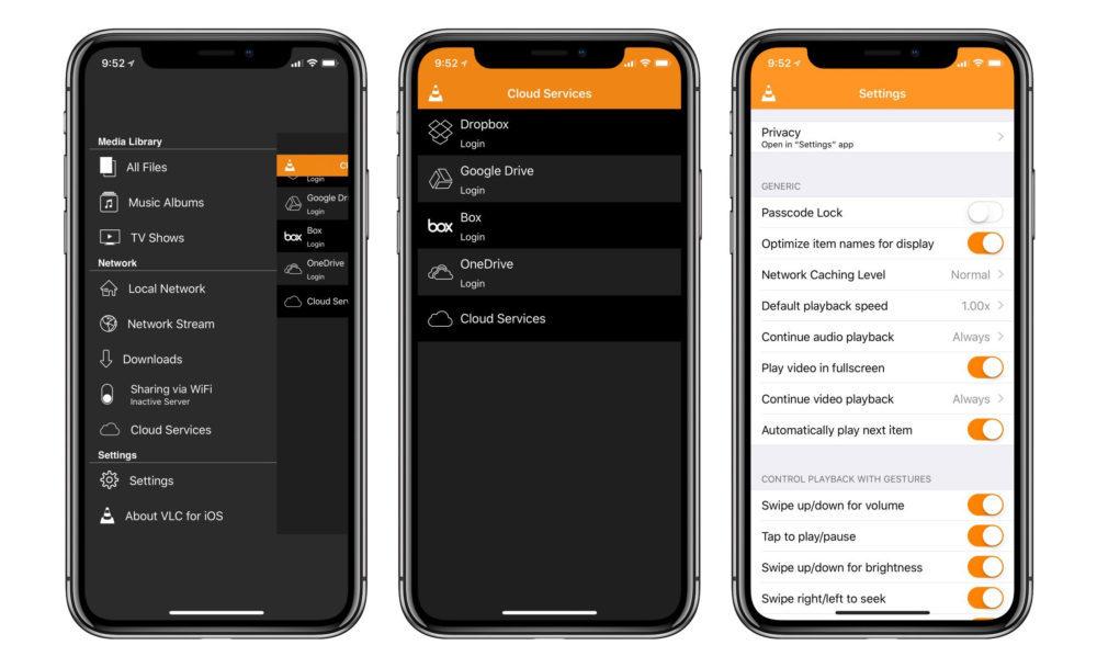 VLC iPhone X 1000x609 VLC sur iOS se met à jour pour prendre en charge les vidéos à 360 degrés et Chromecast