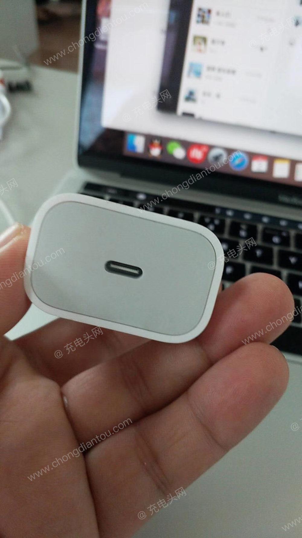 chargeur usb c Premières photos du chargeur USB C 18 W de liPhone de 2018 ?