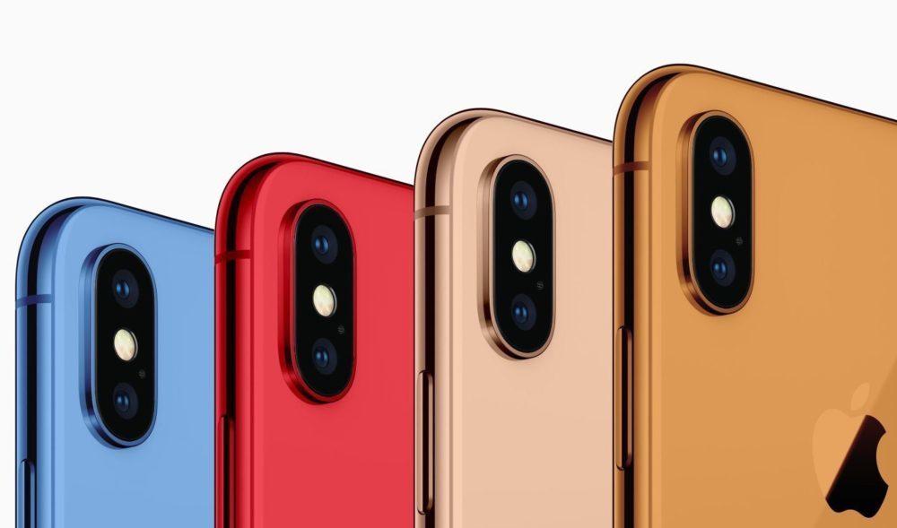 iPhone 2018 Coloris 1000x589 iPhone 2018 : pas de coloris rouge sur le modèle LCD de 6,1 pouces