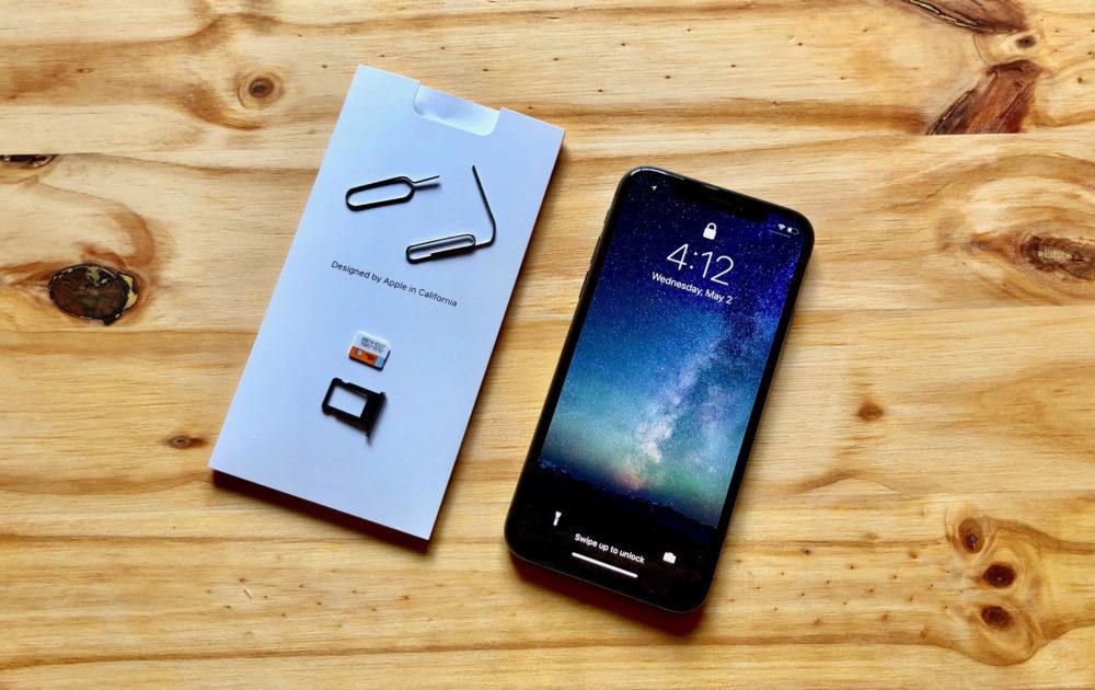 iphone x sim carte tiroir 1000x630 iOS 12 en version bêta prouve encore larrivée de 2 cartes SIM sur les iPhone de 2018