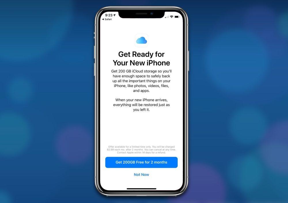 200 Go iCloud Gratuits 1000x706 Apple propose 2 mois gratuits de stockage iCloud de 200 Go... seulement aux États Unis
