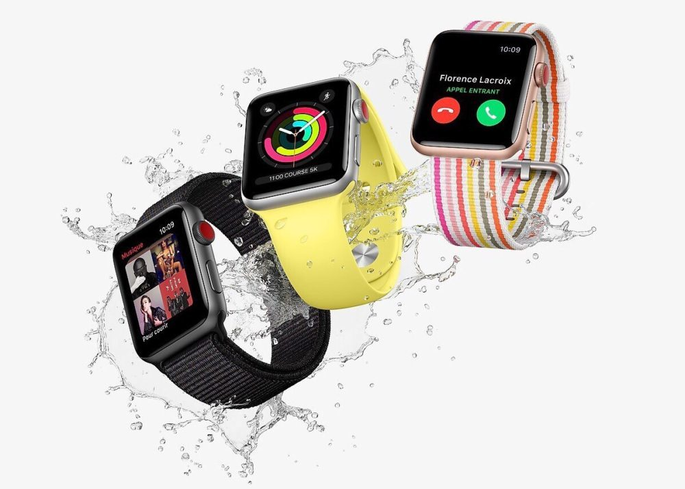 3 Apple Watch Series 3 1000x715 Près de 90% des acheteurs dApple Watch choisissent la Series 1 au lieu de la Series 3