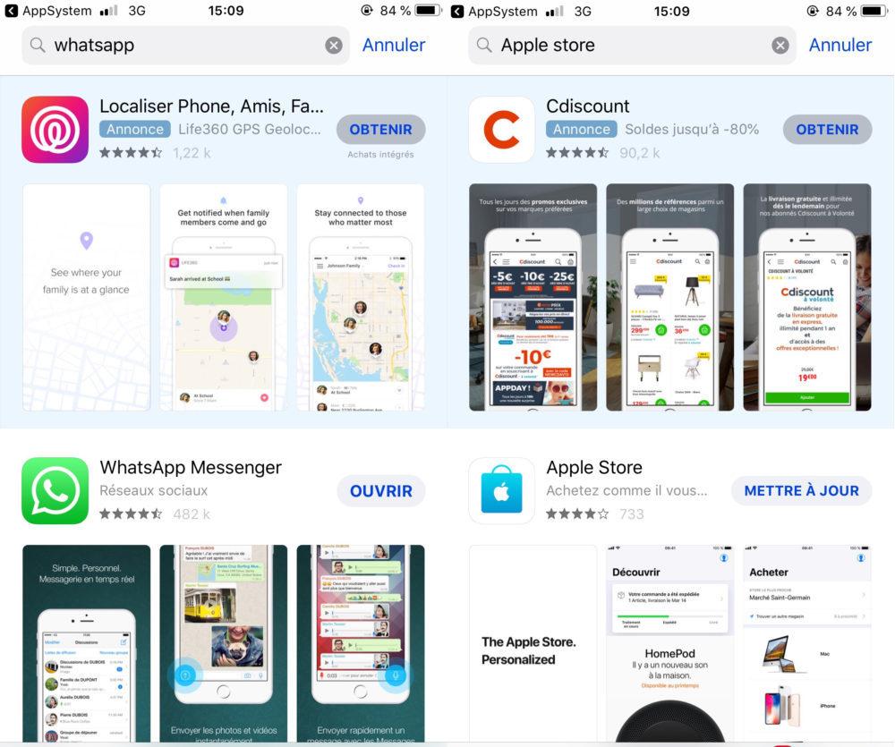 App Store Pubs 1000x835 Les publicités débarquent sur l'App Store français