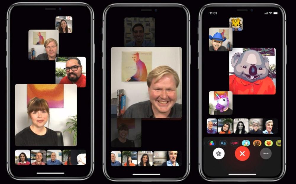 Appels Groupe FaceTime 1000x620 FaceTime   iOS 13.5 : Apple propose une option pour désactiver le zoom sur lutilisateur qui parle
