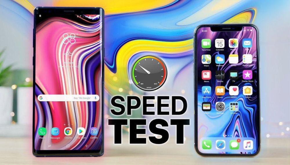 Galaxy Note 9 vs iPhone X Test 1000x570 Un test vidéo montre que l'iPhone X a surpassé le Galaxy Note 9 en terme de rapidité