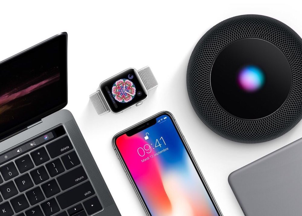 Mac iPhone X Apple Watch HomePod iPad 1000x716 Apple publie la bêta 2 développeurs de macOS 11.2, de watchOS 7.3 et de tvOS 14.4