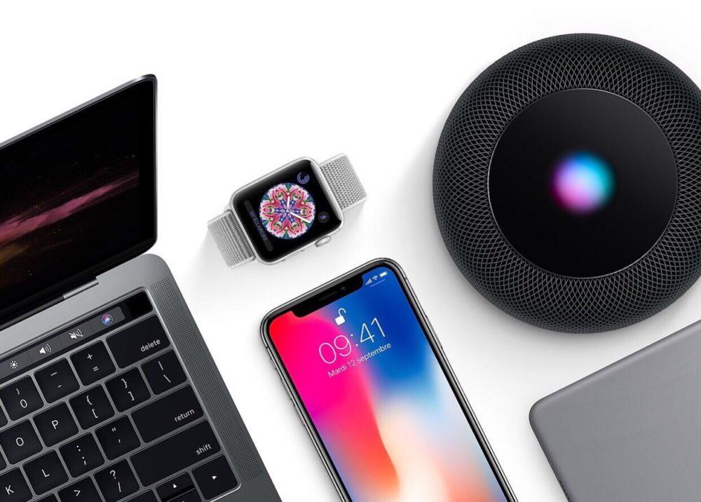 Mac iPhone X Apple Watch HomePod iPad 1000x716 Apple publie la bêta 2 développeurs de macOS 11.2, de watchOS 7.3 et de tvOS 14.4