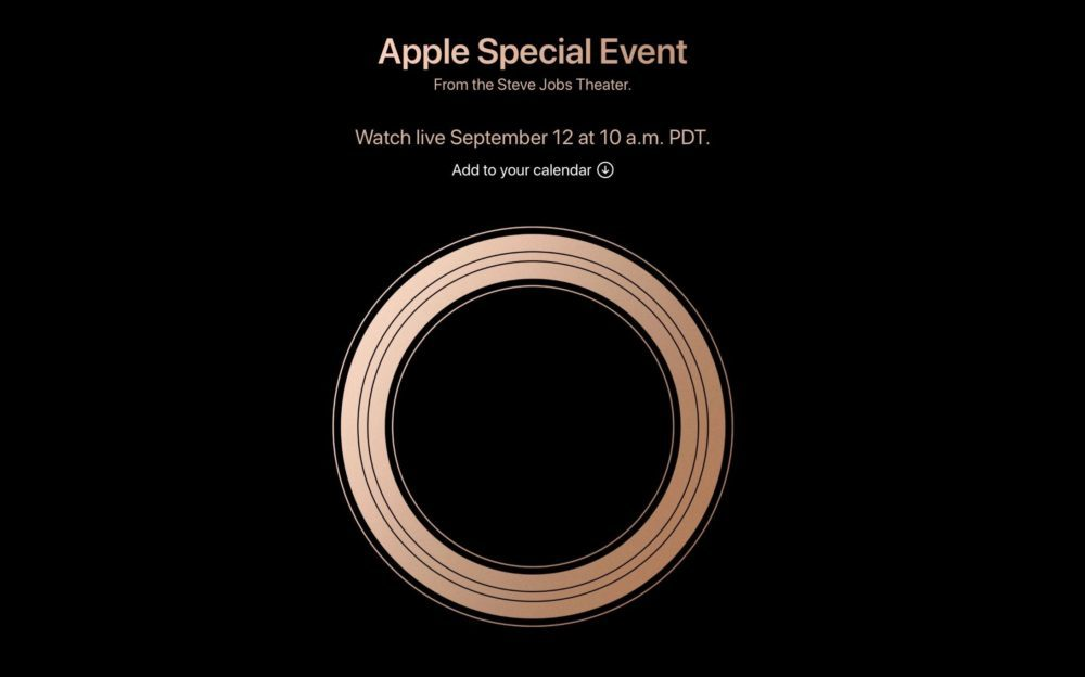 apple 12 septembre 2018 1000x624 La keynote du 12 septembre prochain sera diffusée en direct par Apple