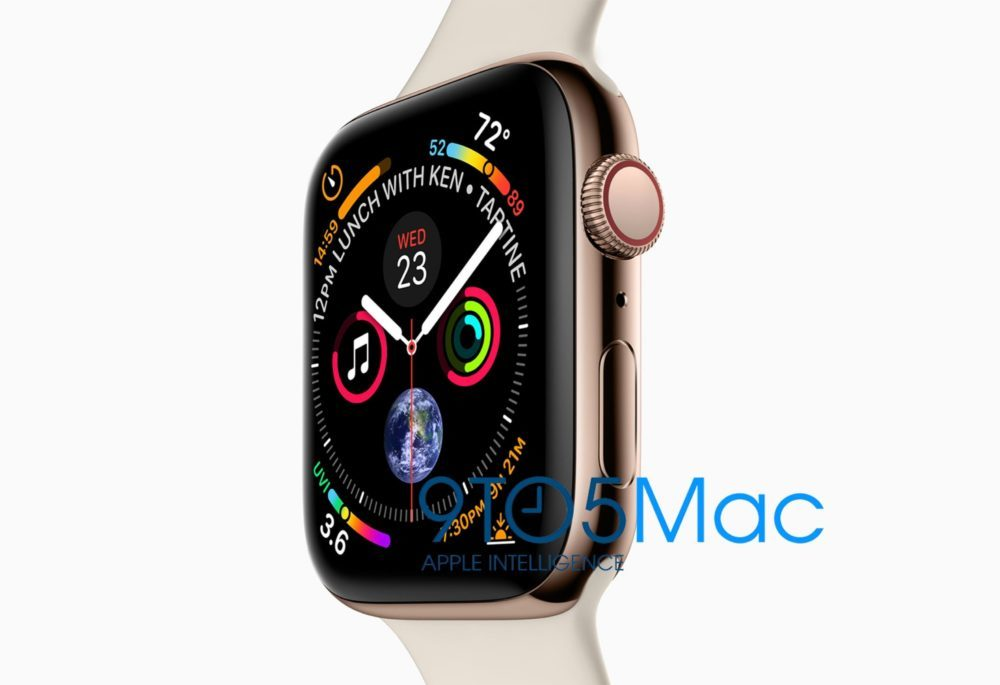apple watch series 4 design 9to5mac 1000x685 Le design de l'Apple Watch Series 4 vu avant la keynote du 12 septembre, la faute à Apple