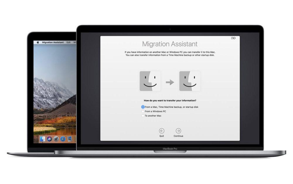 migration assistant mac os mojave 1000x627 macOS Mojave rend plus aisée la migration des données dun PC vers un Mac