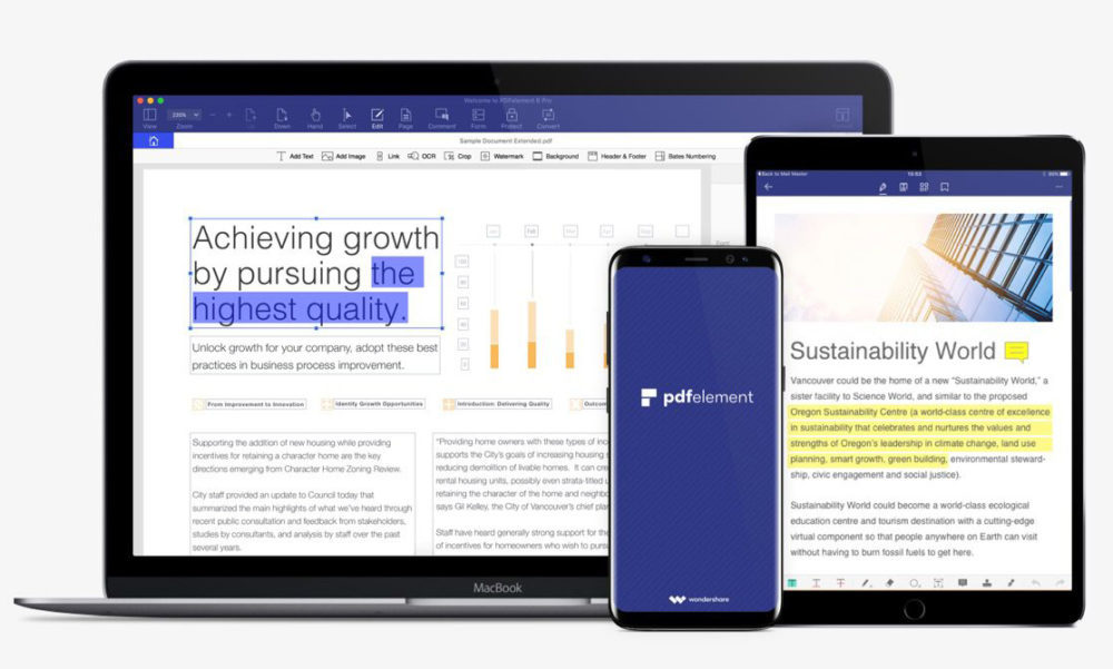 pdfelement mobile 1000x601 PDFelement : lire, éditer, annoter et signer des fichiers PDF sans encombre