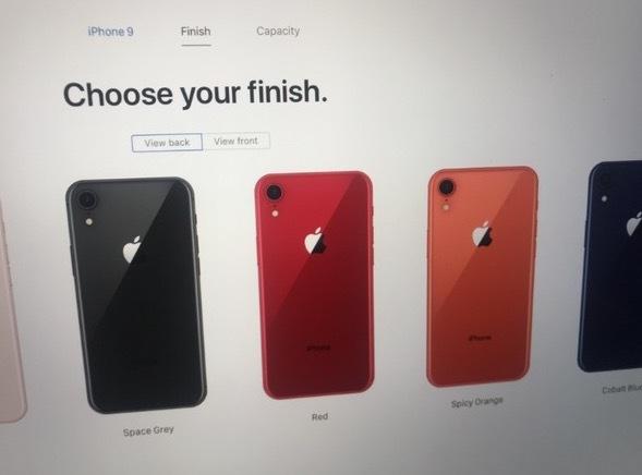 15668 Les tiroirs SIM de liPhone 9 et des screenshots du site dApple en fuite, les coloris dévoilés