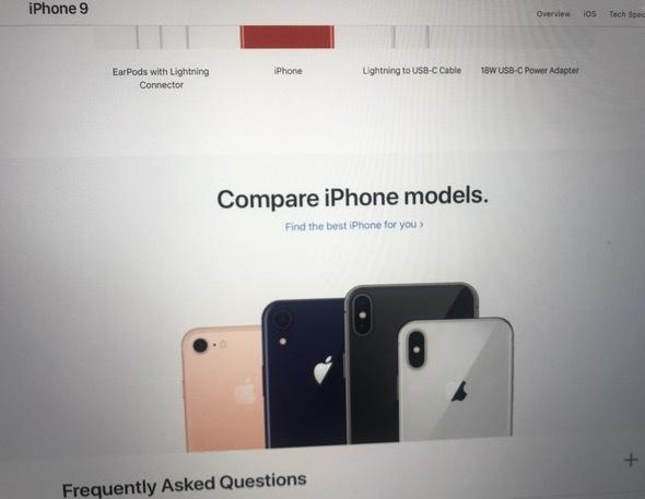 15669 Les tiroirs SIM de liPhone 9 et des screenshots du site dApple en fuite, les coloris dévoilés
