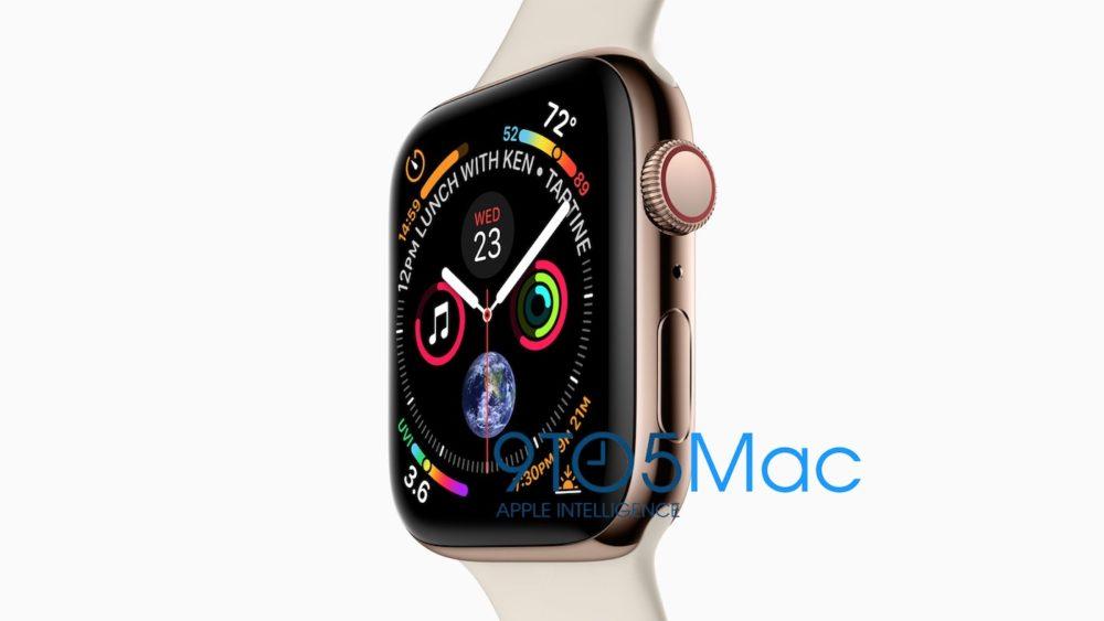 Apple Watch Series 4 La résolution de lApple Watch Series 4 en fuite sur le net