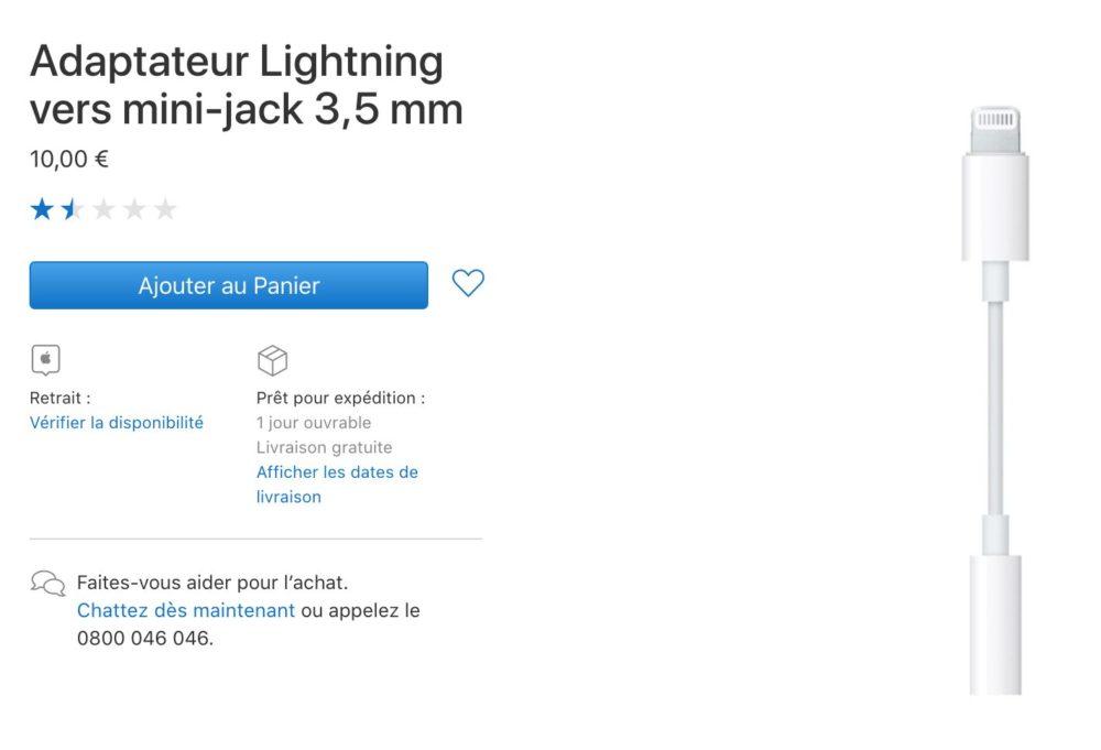 Capture d'écran 2018 09 12 à 22.31.41 Apple ne fournit plus dadaptateur Jack Lightning avec les iPhone Xs et Xr