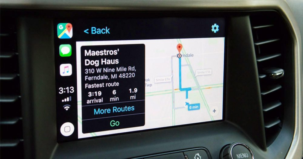 Google Maps CarPlay Banner Google Maps est disponible en version finale sur CarPlay avec iOS 12