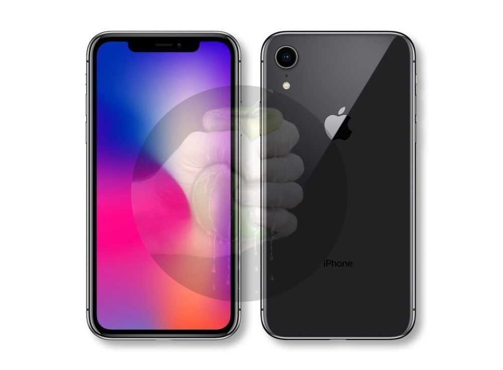 Suppose iPhone 9 1000x736 LiPhone LCD, appelé iPhone Xr, sera disponible en noir, blanc, rouge, jaune, corail et bleu