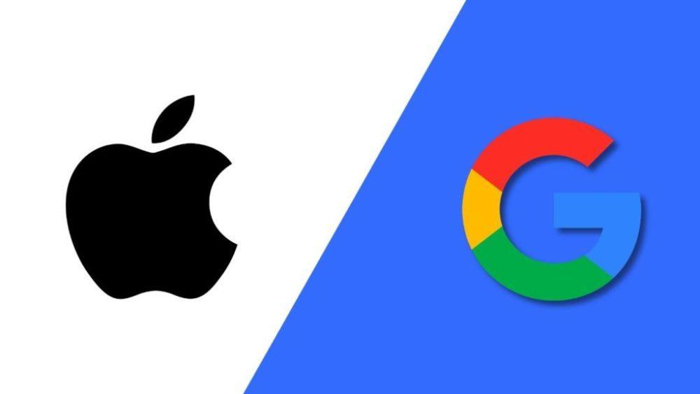 apple vs google 1000x563 Google aurait payé 9 milliards de dollars à Apple pour rester le moteur de recherche par défaut sur iOS