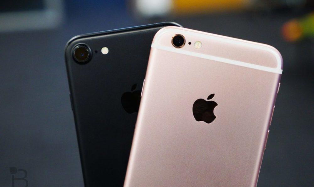iPhone 6s Or vs iPhone 7 Noir 1000x598 Une recherche suggère que liPhone 6s et liPhone 7 sont les iPhone les plus utilisés