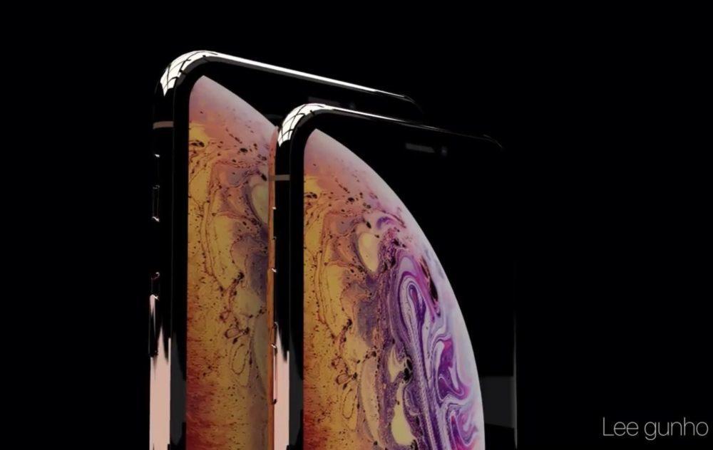 iPhone XS Concept 1000x632 Un concept vidéo montre les iPhone XS de couleur Or