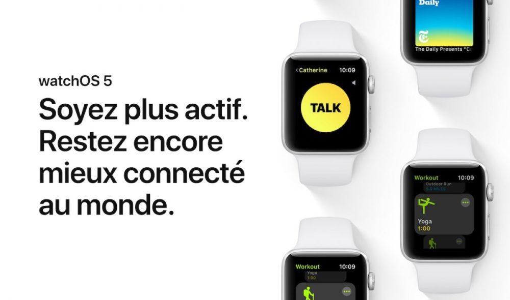 watchOS 5 Apple Watch 1000x590 watchOS 5.1 bêta 5 est disponible pour lApple Watch