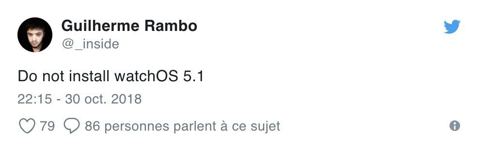 Capture d'écran 2018 10 30 à 23.19.33 Attention ! watchOS 5.1 peut faire planter votre Apple Watch, ninstallez pas la mise à jour