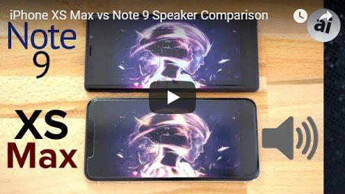 Capture iPhone Xs Max v Galaxy Note 9 : comparatif de la qualité de son