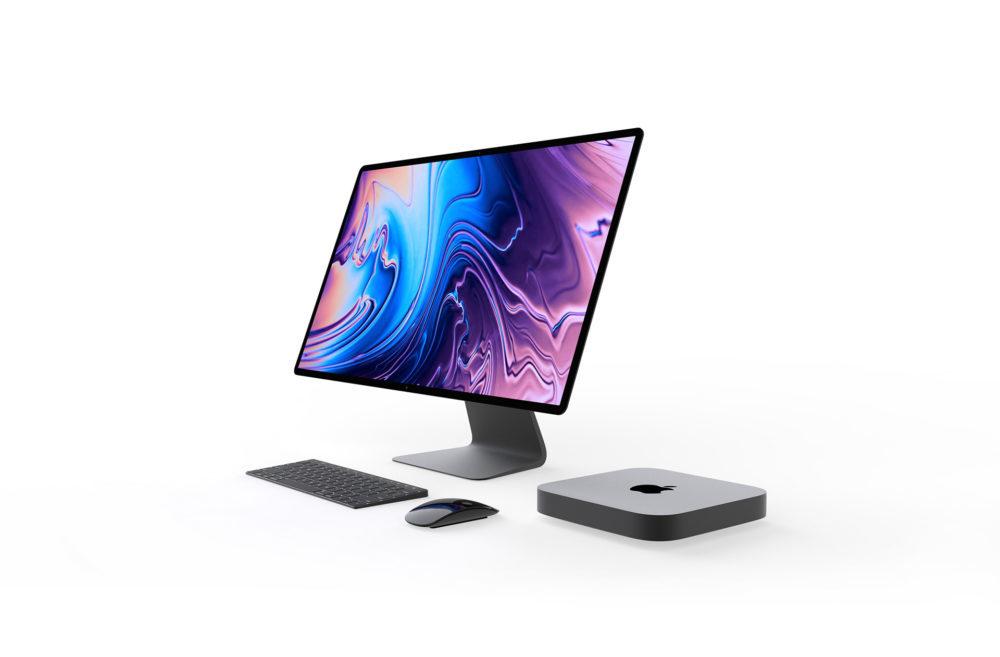 Concept Mac Mini Pro 1 1000x657 Un concept Mac mini Pro présente un Magic Keyboard avec Touch Bar et Touch ID
