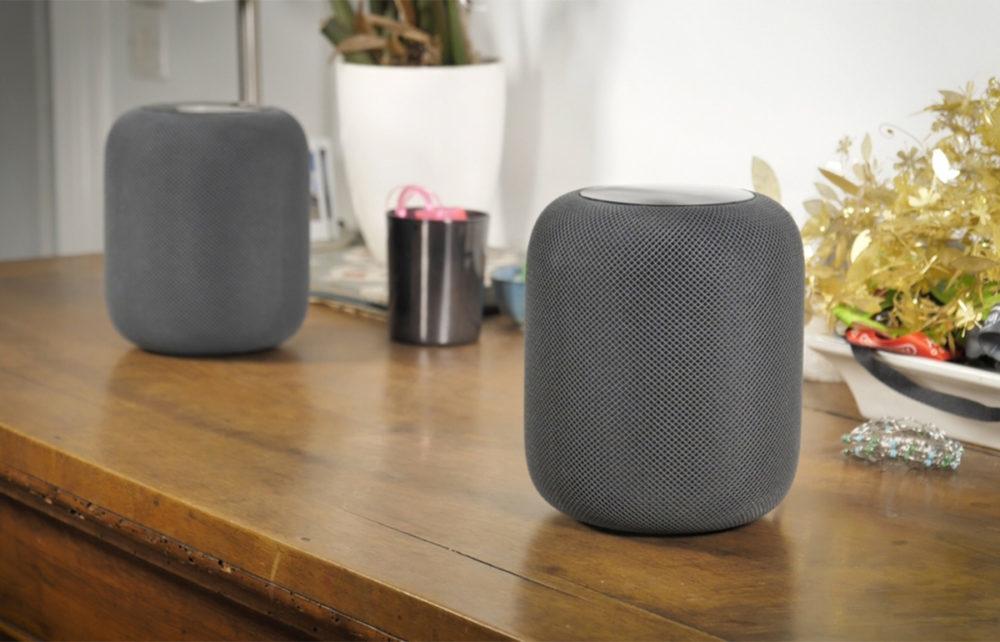 Deux HomePod Apple Noir 1000x642 La part de marché du HomePod augmente délicatement, mais toujours derrière Amazon et Google