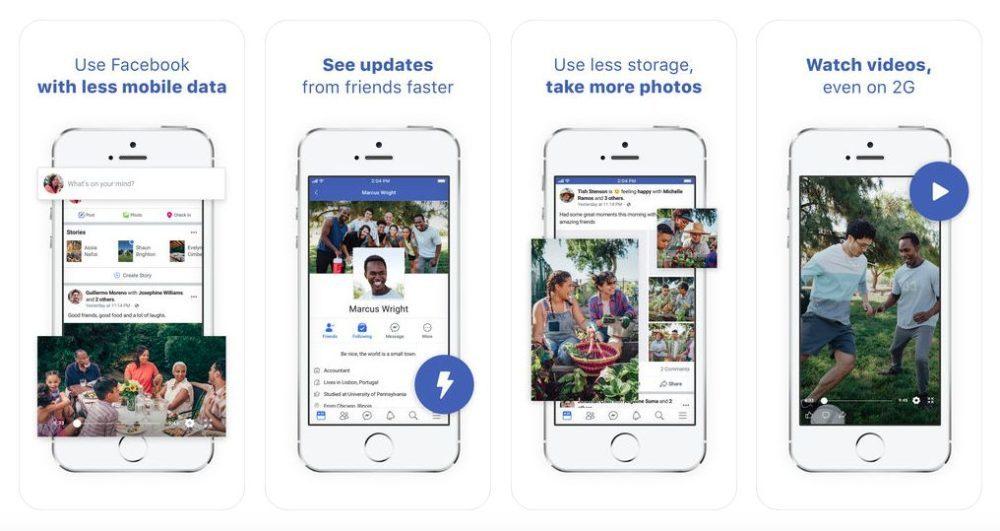 Facebook Lite 1000x531 Lapplication Facebook Lite nest plus proposée par Facebook sur lApp Store