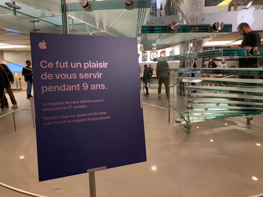 Fermeture Apple Store Carrousel Louvre LApple Store Carrousel du Louvre à Paris nest plus