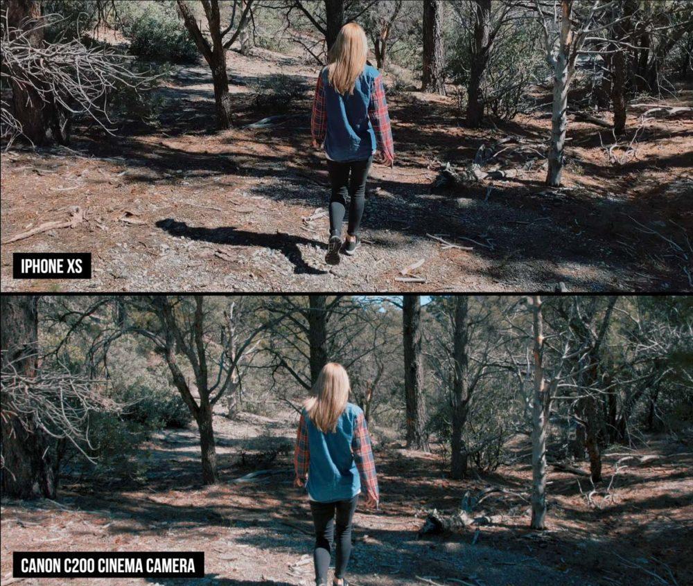 Iphone XS vs Cinema Camera Ed Gregory Review4 1000x846 La caméra de liPhone XS face à une caméra de cinéma qui coûte 10 000 dollars