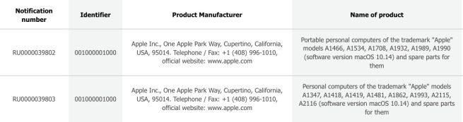 Mac Apple Base Donnees Europe Apple enregistre de nouveaux Mac dans la base de données eurasienne quelques jours avant la keynote