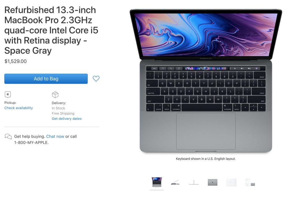 MacBook Pro Reconditionne Les premiers MacBook Pro 2018 reconditionnés arrivent sur le refurb