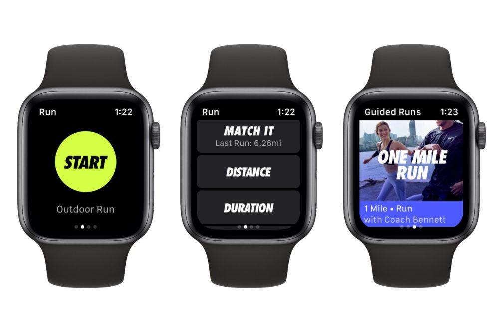 Nike Run Club Mise a Jour Apple Watch Series 4 1000x666 Nike Run Club sur iOS ajoute la création des défis personnalisés