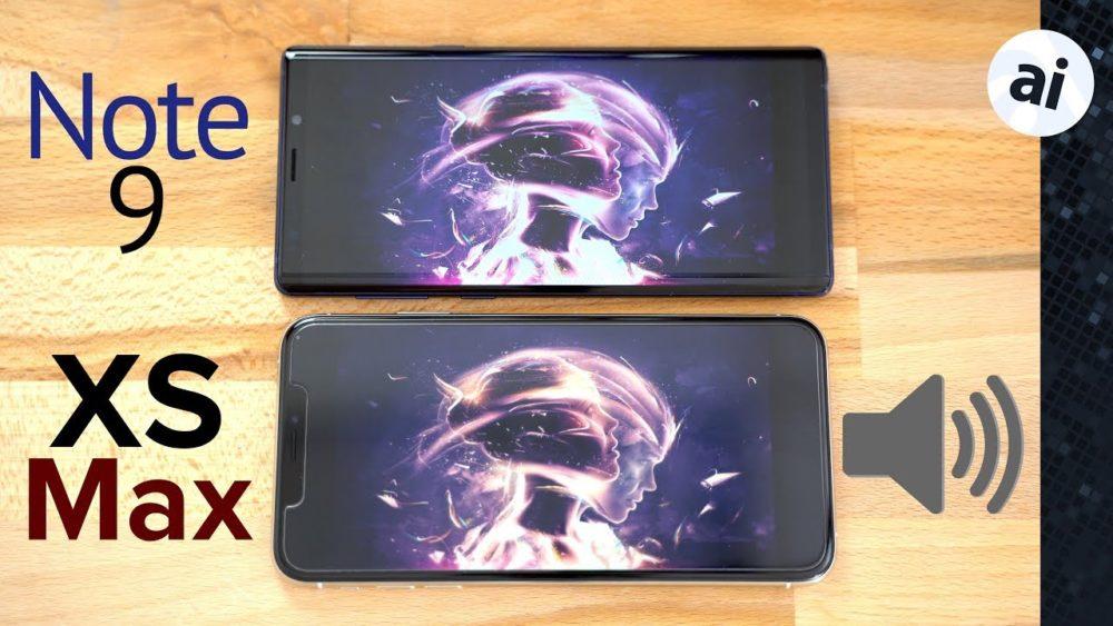 Test Son Galaxy Note 9 iPhone Xs Max iPhone Xs Max v Galaxy Note 9 : comparatif de la qualité de son