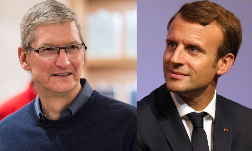 Une rencontre prévue demain entre Tim Cook et Emmanuel Macron