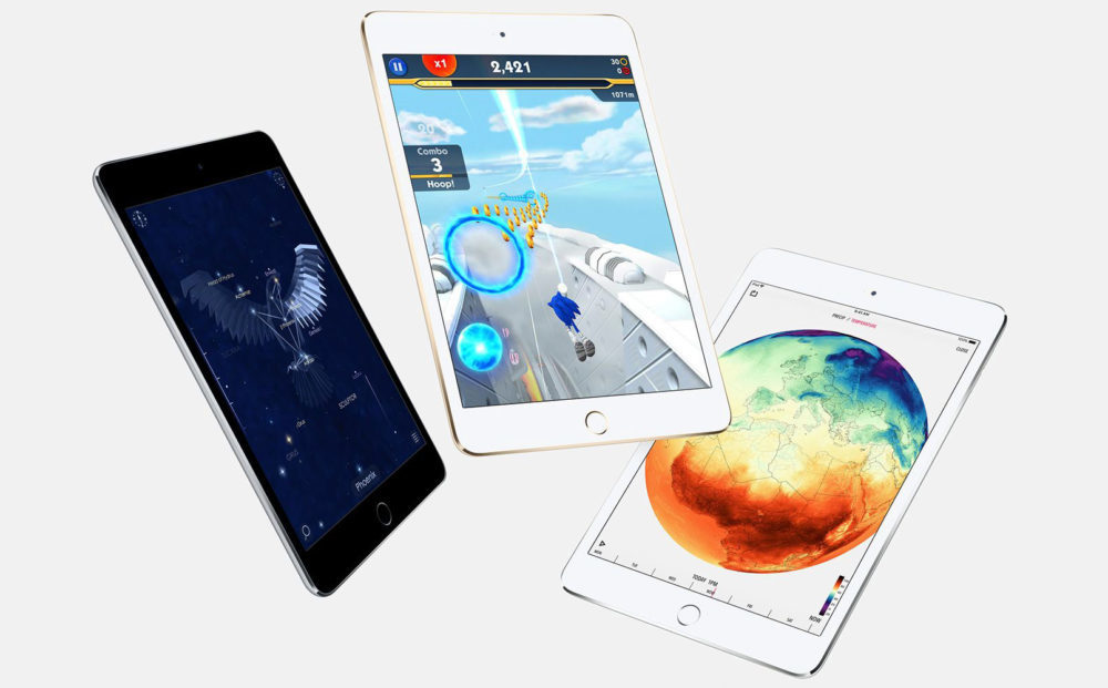apple ipad mini 4 1000x621 Un nouvel iPad de 10 pouces et un iPad mini « à bas prix » à venir en 2019 ?