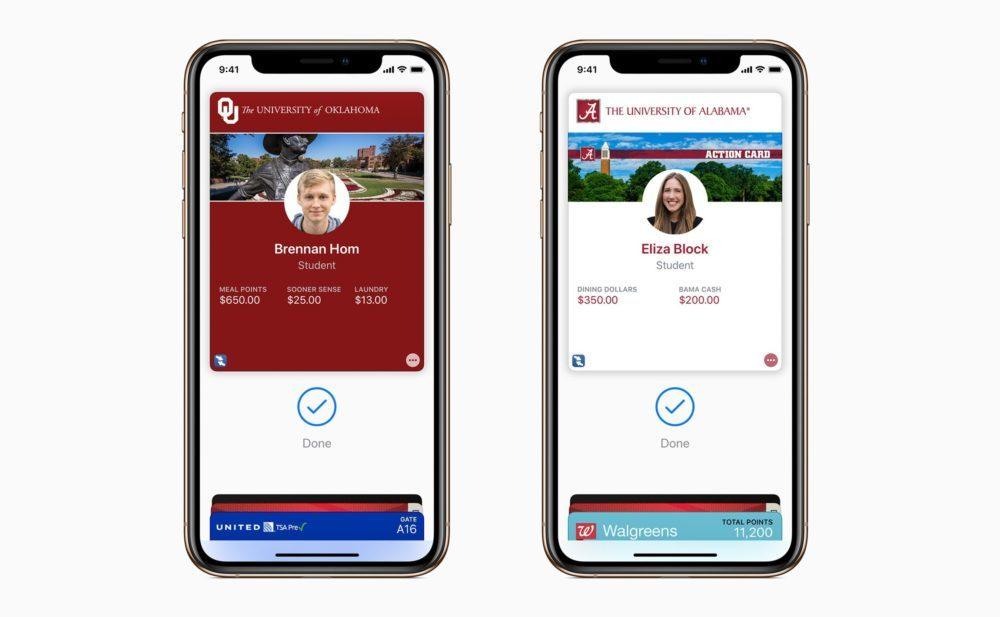apple wallet carte identite campus 1000x617 États Unis : 3 universités permettent aux étudiants dutiliser leur iPhone et Apple Watch comme carte didentité