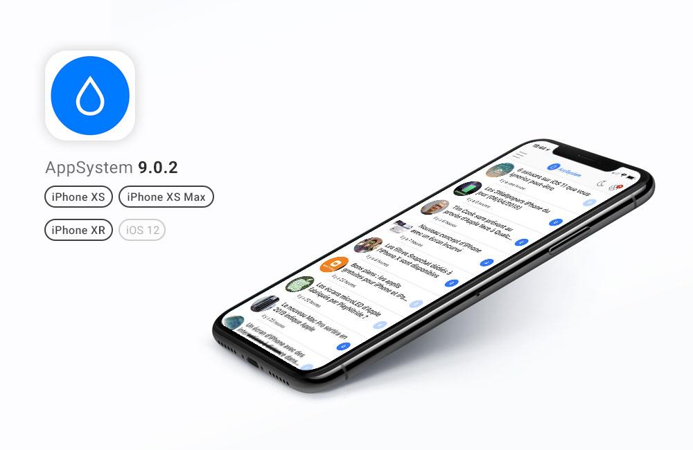 appsystem update 902 AppSystem 9.0.2 est disponible : compatibilité iOS 12, iPhone XS, XS Max et XR
