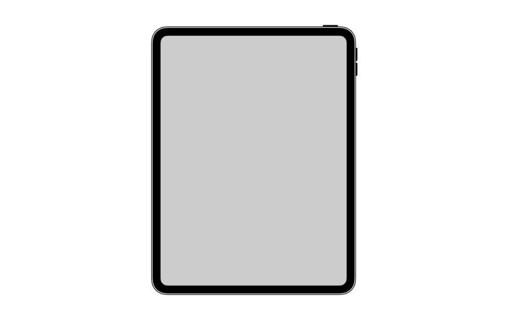 design ipad pro 2018 1000x634 Une icône trouvée sur iOS 12.1 lève le voile sur le design du nouvel iPad Pro de 2018