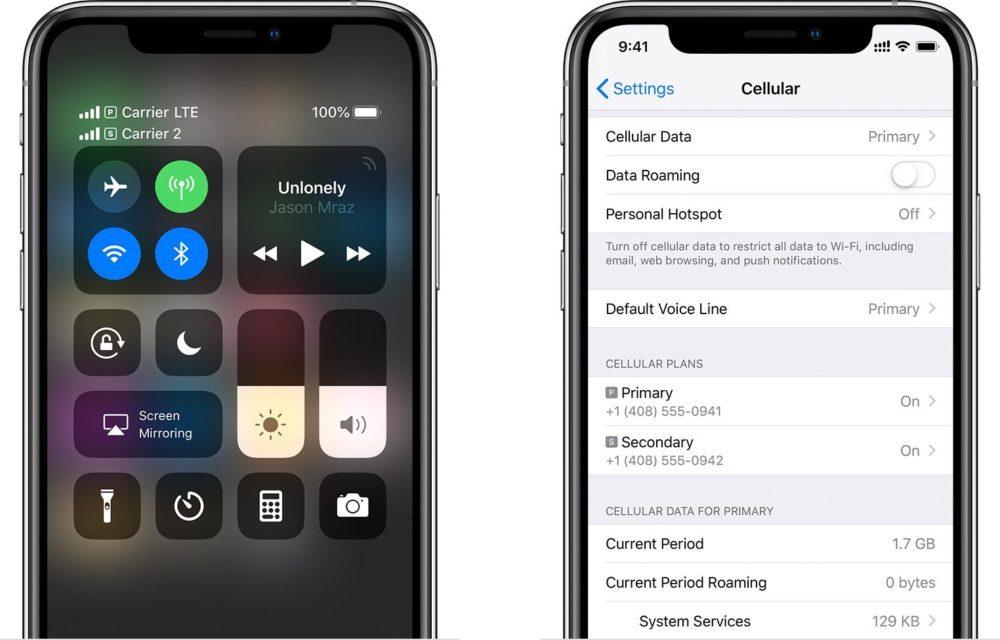esim iphone xs xr 1000x640 Daprès certains opérateurs, iOS 12.1 sera disponible mardi prochain avec le lancement de leSIM