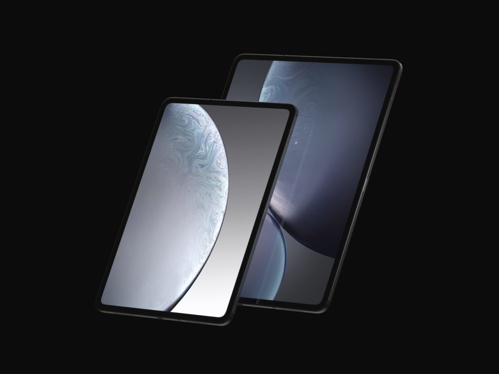 iPad Design Final 2 1000x750 Les derniers rendus montrent le design des iPad Pro de 2018 qui seront dévoilés le 30 octobre