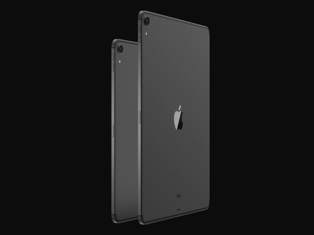 iPad Design Final 3 1000x750 Les derniers rendus montrent le design des iPad Pro de 2018 qui seront dévoilés le 30 octobre