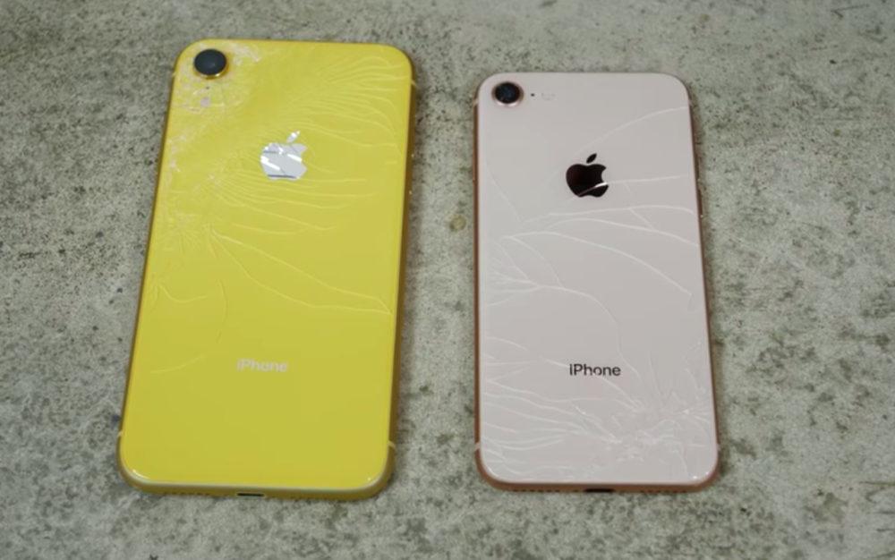 iPhone XR iPhone 8 Test de Chute 1000x626 iPhone 8 et iPhone XR, lequel est le plus résistant aux chutes ?