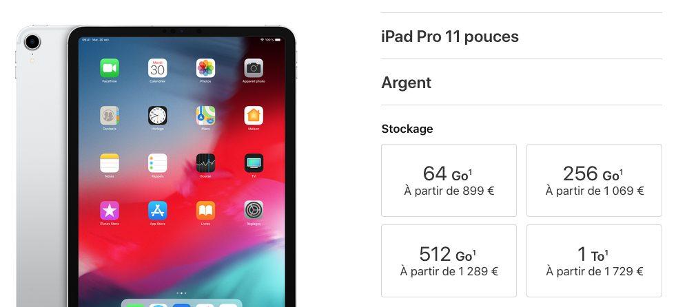 ipad pro11 Nouvel iPad Pro 2018 : nouveautés, prix et date de sortie