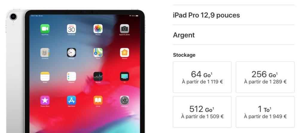 ipad pro129 Nouvel iPad Pro 2018 : nouveautés, prix et date de sortie