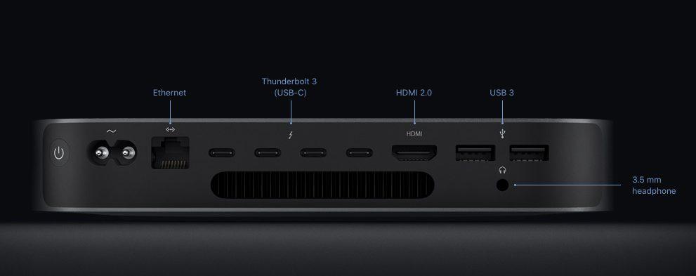 mac mini 2018 ports hmdi usb Mac mini 2018 : prix, précommandes et dates de livraison